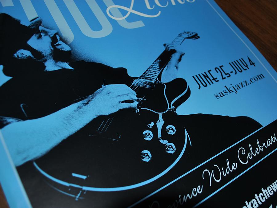SaskTel jazz festival poster